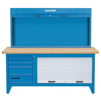 Bàn nguội kết hợp tủ đồ nghề 5 ngăn và bảng treo Gedore BR 1500 LH