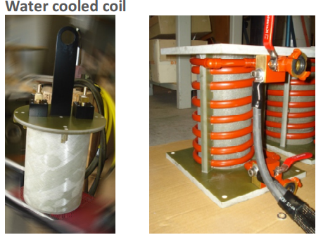 Water cooled coil