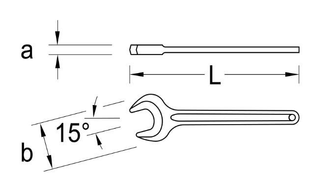 Cờ lê 1 đầu miệng đen size 32mm Gedore 894-32