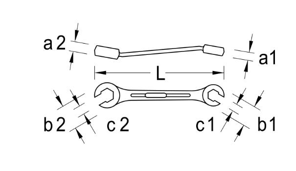 Cờ lê mở ống dầu 7/8x1 inch Gedore 400 (cờ lê đầu vòng hở)