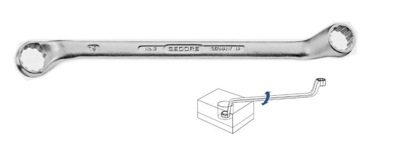 Cờ lê 2 đầu vòng đầu tròng hệ mét Gedore 2 30x32