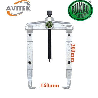 Cảo hai chấu nối chân KUKKO 20-2-3 độ mở 160mm