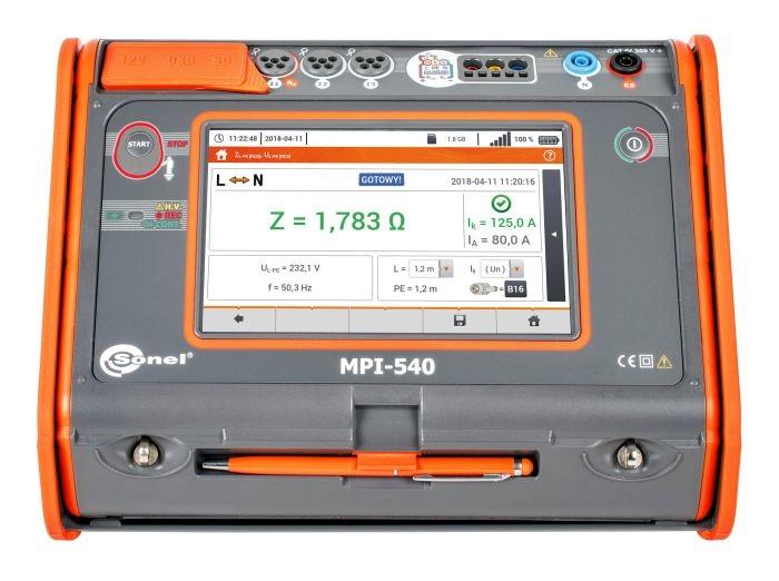 Đồng hồ đo đa năng các thông số lắp đặt điện Sonel MPI-540 Bắt đầu
